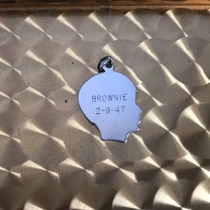 Vintage Jewelry - Sterling Silver Silhouette Charm